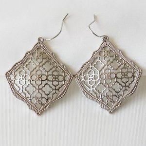 """Kendra Scott """"Kristen"""" Silver Filigree Earrings"""